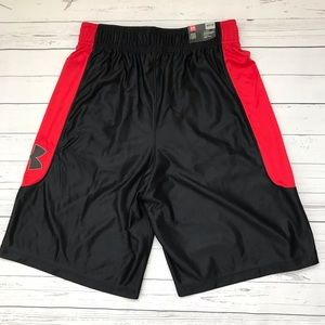 Under Armour Shorts - Black/Red Under Armour HeatGear Basketball Shorts